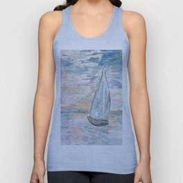Bateau at Sunset Unisex Tank Top
