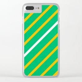 River and corn fields Clear iPhone Case