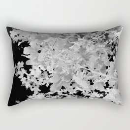 Abstract Tree Landscape Dark Botanical Art Black Noir Rectangular Pillow