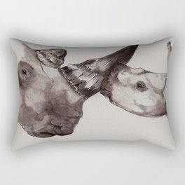 Rhino Love Rectangular Pillow