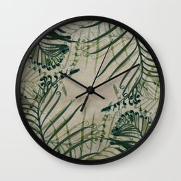 Cycas Leaves Abstract Wall Clock