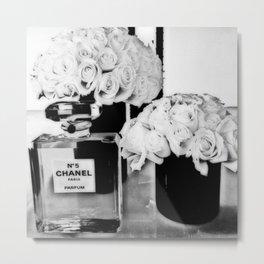 CHANELNo. 5 Black and White Metal Print