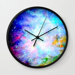 Colorful Universe Wall Clock