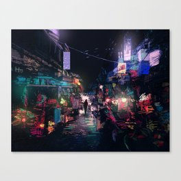 Blues of the Night Canvas Print