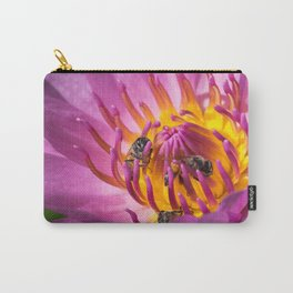 Bees in lotus Carry-All Pouch