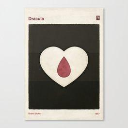 Bram Stoker's Dracula - Minimalist literary design, literary gift, bookish gift, illustration wall a Canvas Print