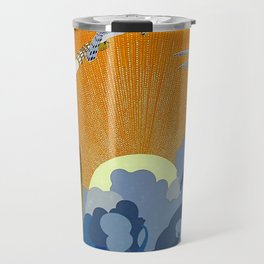 """Wings of Victory"" Art Deco Design Travel Mug"
