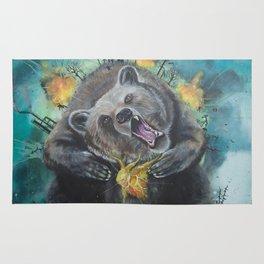 """Lice in the fur"" - Bear Rug"