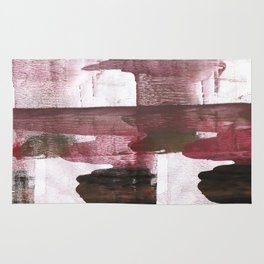Red Black clouded watercolor texture Rug