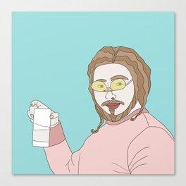 Posty Malone Drinking Milk Canvas Print