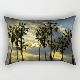 Sunbeams and Palm Trees by Cabrillo Beach Los Angeles California Rectangular Pillow