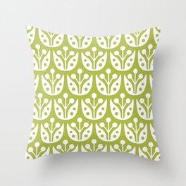 Mid Century Flower Pattern 5 Throw Pillow