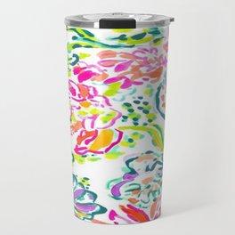 Watercolor Florals Travel Mug