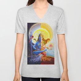 Shiva and Shakti Unisex V-Neck