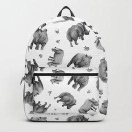 Rhino's Grazing - Black & White Backpack