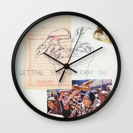 getting stronger everyday Wall Clock
