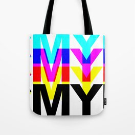CMYK ON WH Tote Bag