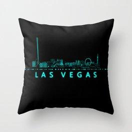 Digital Cityscape: Las Vegas, Nevada Throw Pillow