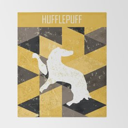 Hufflepuff House Pattern Throw Blanket