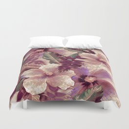 Antiqued Garnet Ginger Aloha Duvet Cover