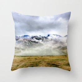Lago Ercina in National park Picos de Europa Throw Pillow