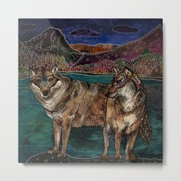 Wolf Love Metal Print
