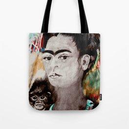 frida nd the monkey Tote Bag