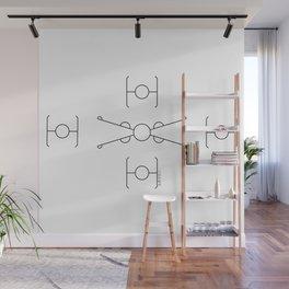 Geometric Minimal StarWars Pattern Wall Mural
