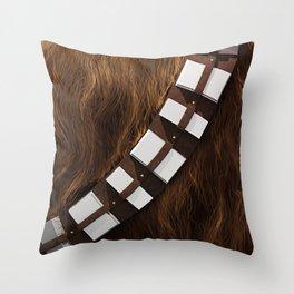Chewie Wookie Utility Belt - Gold Edition Throw Pillow
