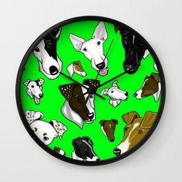 Smooth Fox Terriers green Wall Clock
