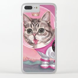 Supersonic Space Princess Clear iPhone Case