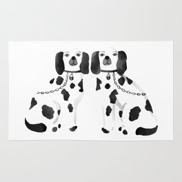 Staffordshire Dogs (Black) Rug