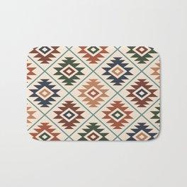 Aztec Symbol Pattern Col Mix Bath Mat