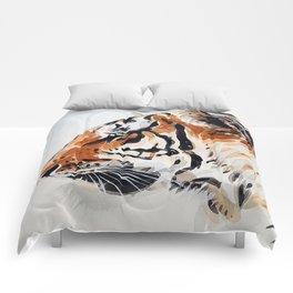 TIGER IN WATERCOLOR Comforters