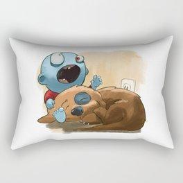 Zombies like to bite stuff too. Rectangular Pillow