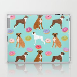 Boxer donuts cute gifts for pure breed dog lover Boxers dog owners Laptop & iPad Skin