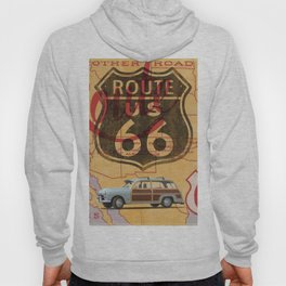 Route 66 Vintage Travel Poster Hoody