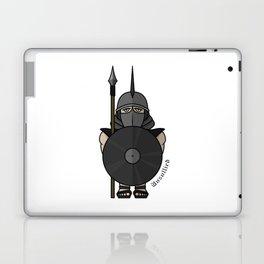 Spartan warrior stylized illustration. Warrior with javelin. Laptop & iPad Skin