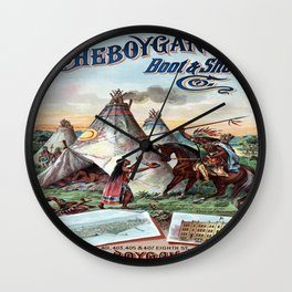 Vintage poster - Sheboygan Boot & Shoe Wall Clock