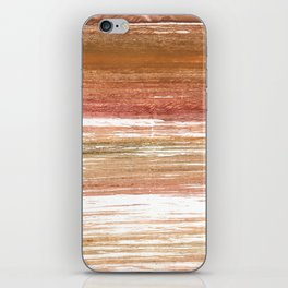 Coconut abstract watercolor iPhone Skin