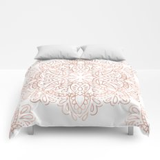 Mandala Rose Gold Pink Shimmer by Nature Magick Comforters