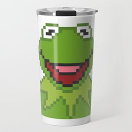 Kermit The Muppets Pixel Character Travel Mug