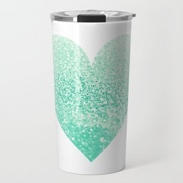 SEAFOAM HEART Travel Mug