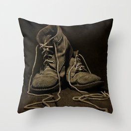 Old Brown Shoes Throw Pillow