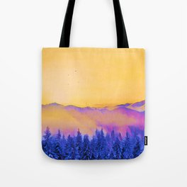 soft morning in the forest Tote Bag