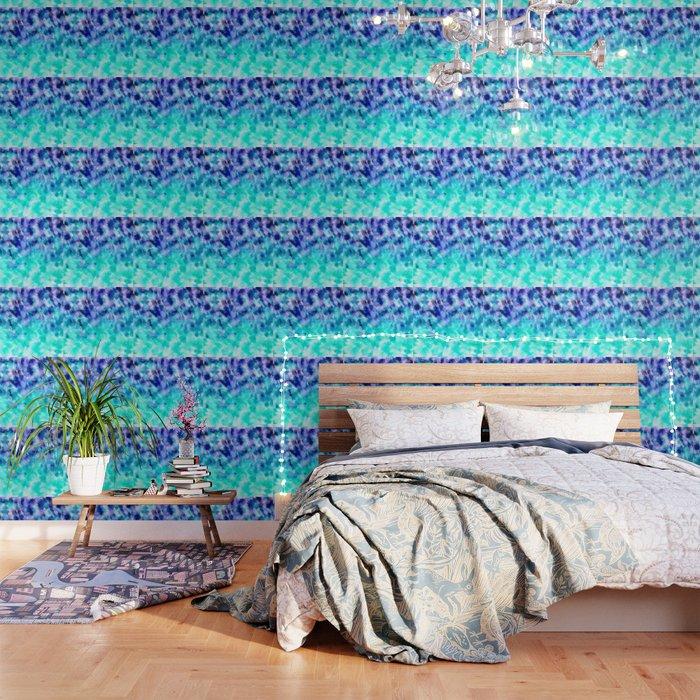 Modern Boho Blue Turquoise Watercolor Mermaid Tie Dye Pattern