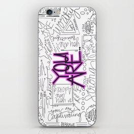 You Are - Fuchsia iPhone Skin