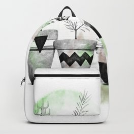 Trio of succulents Backpack