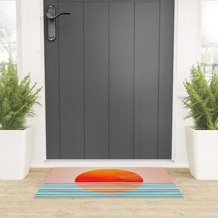 Minimalist Sunset III Welcome Mat