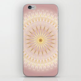 Gold Rose Mandala iPhone Skin